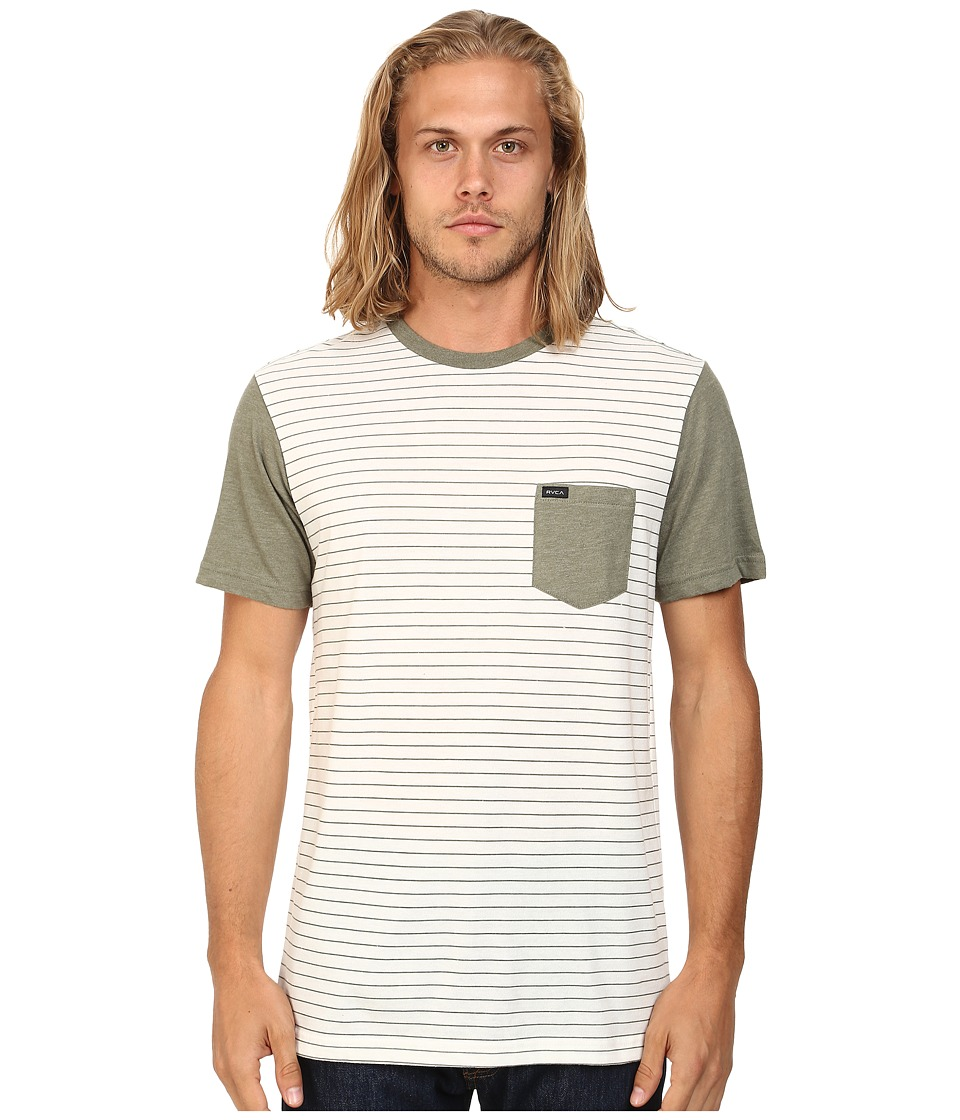 RVCA Change Up Crew Vintage White Mens Short Sleeve Pullover