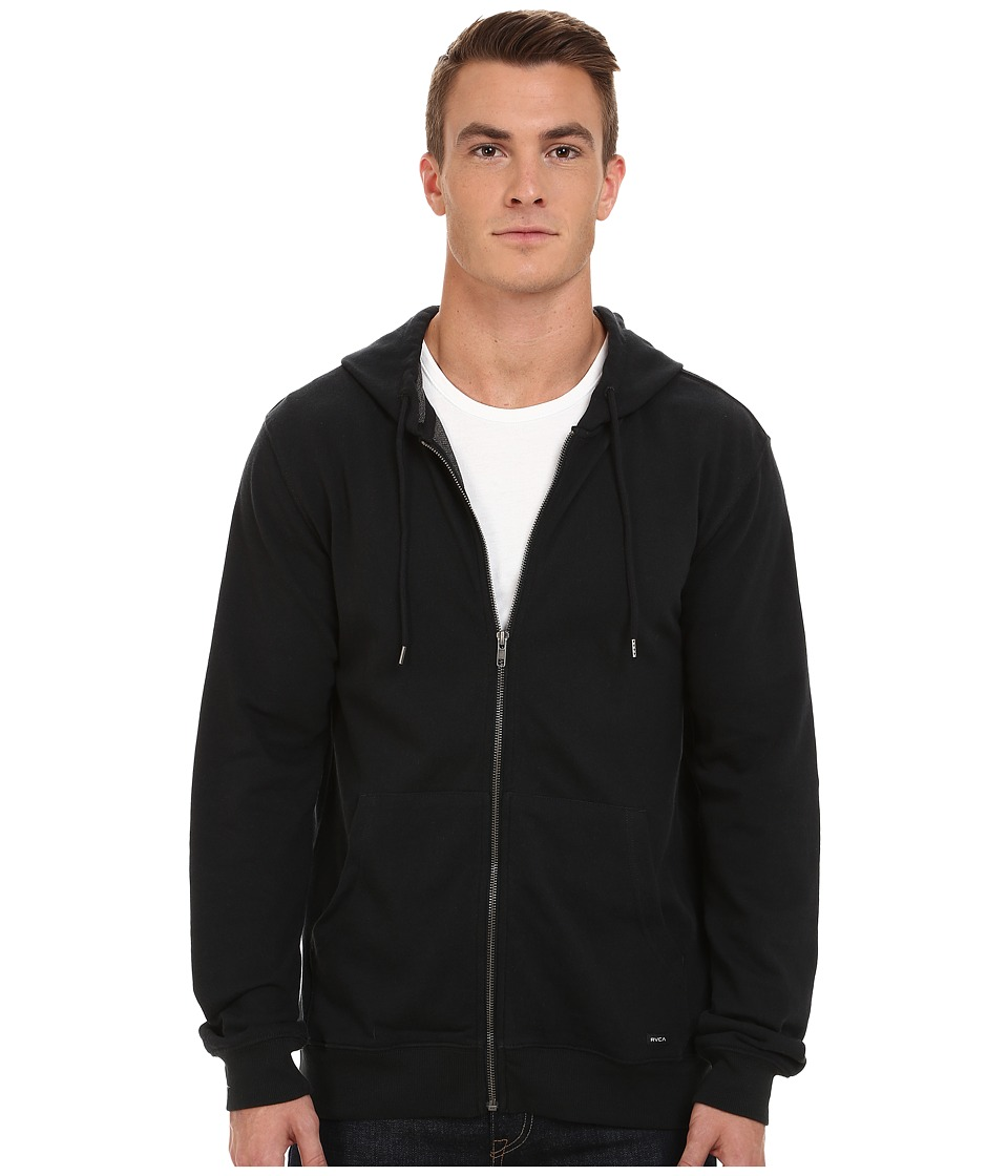 RVCA Crucial II Zip Hoodie Black Mens Sweatshirt