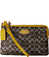 COACH - Signature Corner Zip