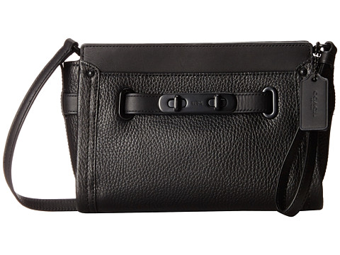 COACH Pebbled Leather Swagger Wristlet