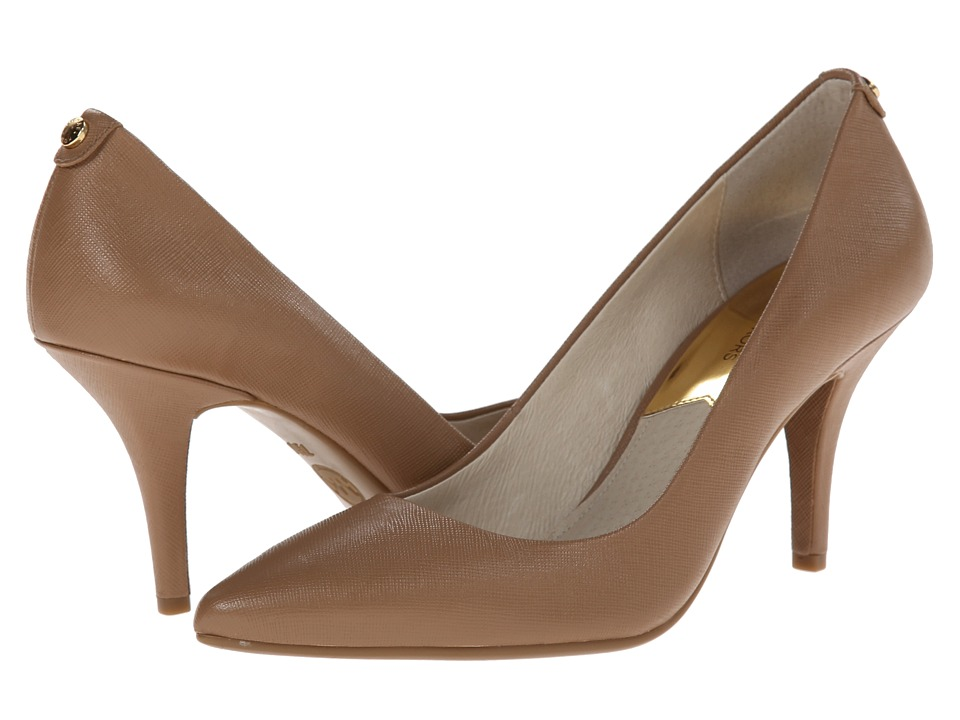 MICHAEL Michael Kors MK Flex Mid Pump (Dark Khaki Saffiano) High Heel Shoes