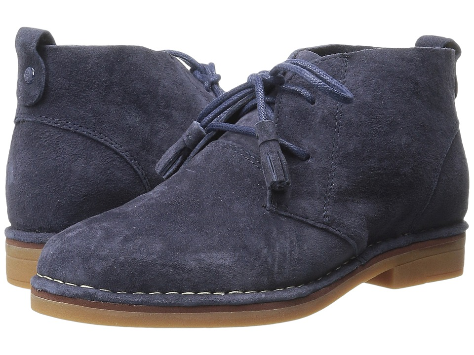 Vintage Style Shoes, Vintage Inspired Shoes Hush Puppies - Cyra Catelyn Navy Suede Womens Lace-up Boots $98.95 AT vintagedancer.com
