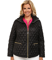 MICHAEL Michael Kors - Plus Size Diamond Quilt Packable Down