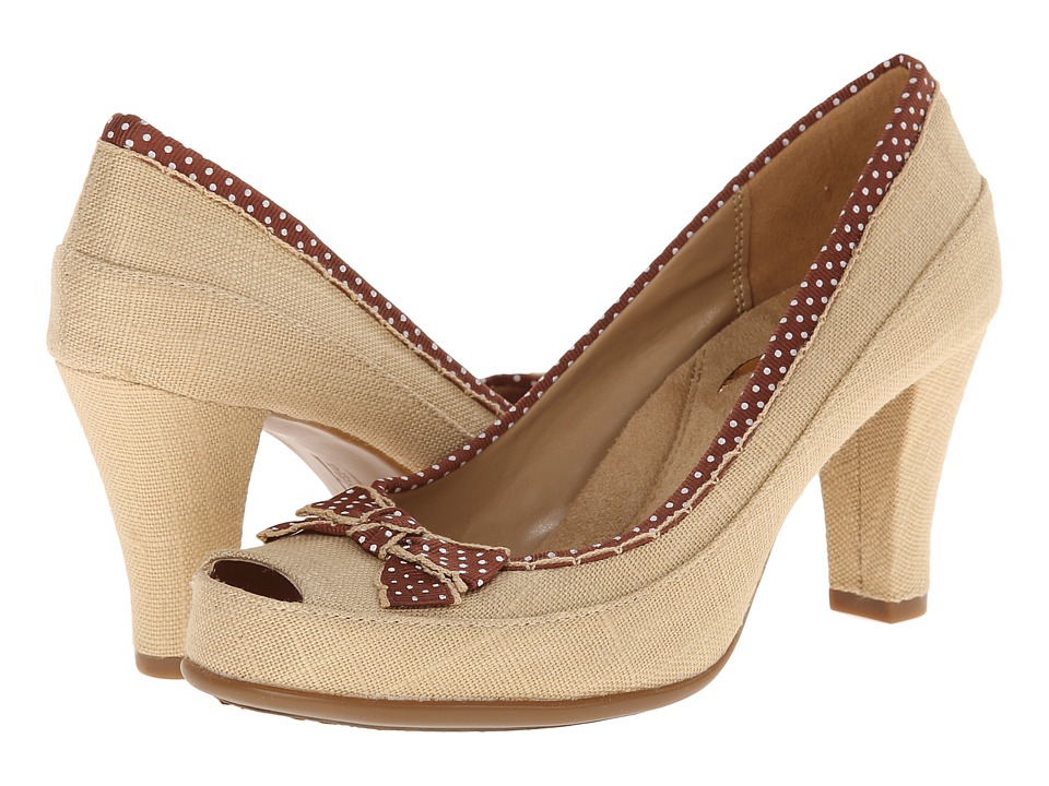 Aerosoles - Benefit Linen Fabric Womens Slip on  Shoes $89.00 AT vintagedancer.com