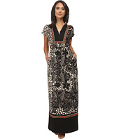 Adrianna Papell - Printed Tunic Maxi Dress