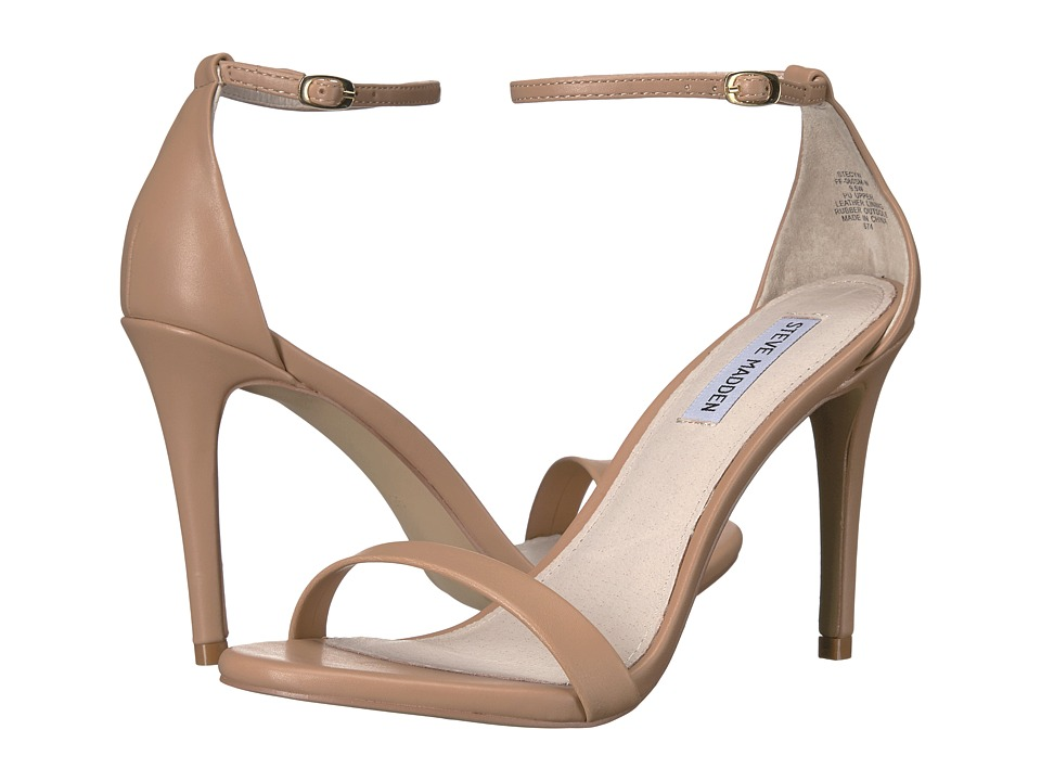 Steve Madden Stecy Stiletto Sandal (Natural) High Heels