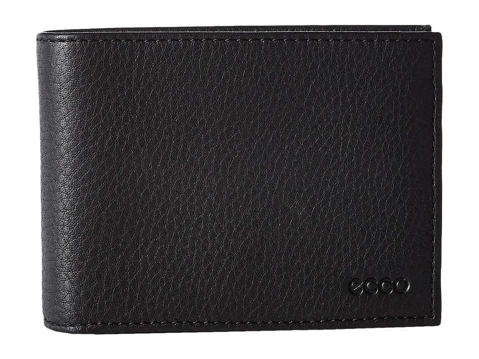 ECCO - Gordon Trifold Wallet (Black) Wallet Handbags
