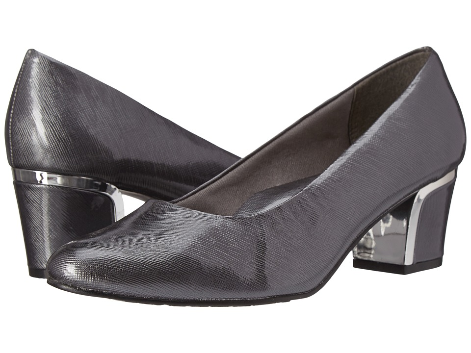 Soft Style Deanna (Dark Pewter Cross Hatch Patent/Silver) 1-2 inch heel Shoes