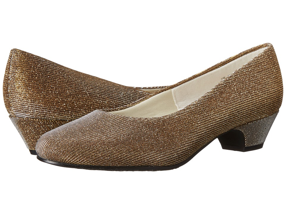 Soft Style - Angel II GoldSilver Cosmic Womens 1-2 inch heel Shoes $49.00 AT vintagedancer.com
