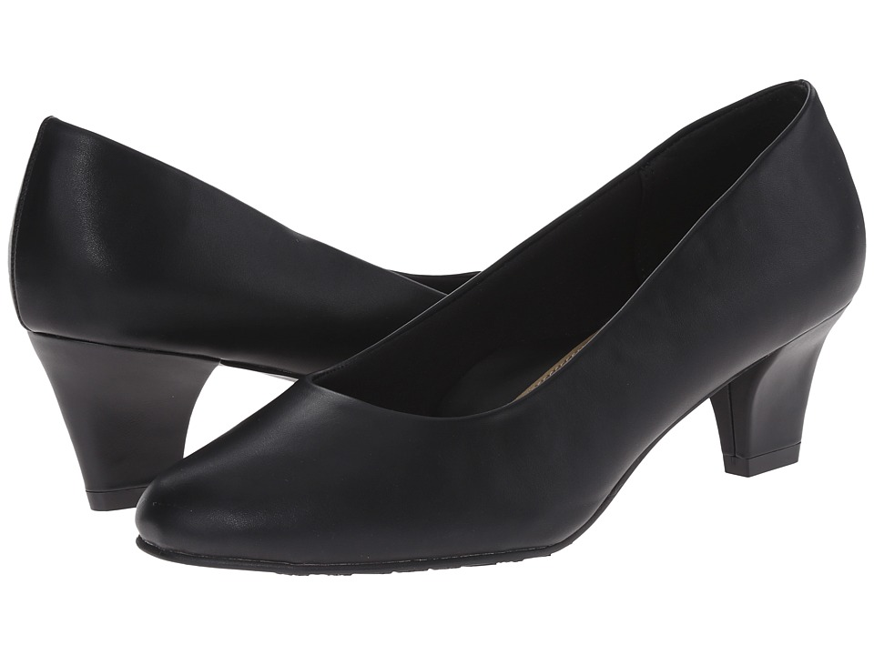 Soft Style Gail (Black Leather) High Heels