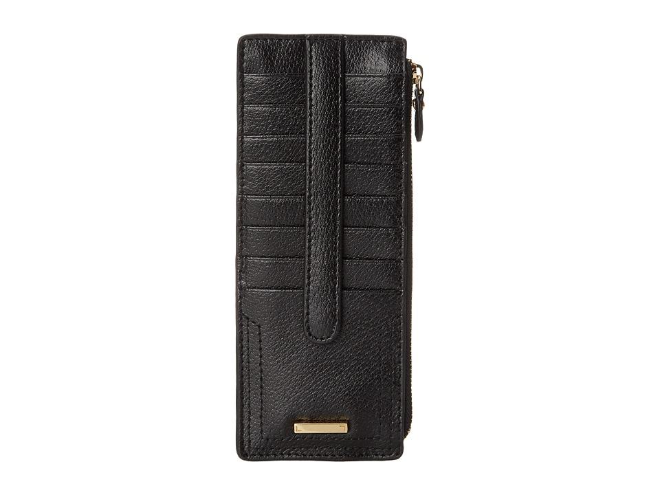 Lodis Accessories - Stephanie RFID Under Lock Key Credit Card Case w/ Zipper Pocket (Black) Credit card Wallet