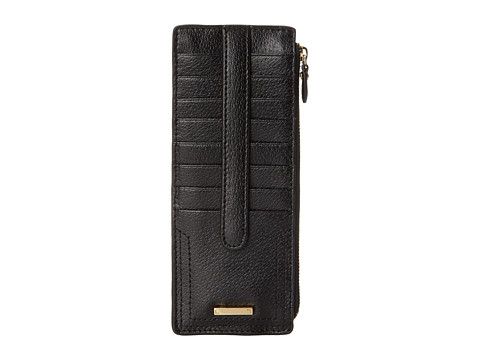 Lodis Accessories Stephanie RFID Under Lock & Key Credit Card Case w/ Zipper Pocket - Black
