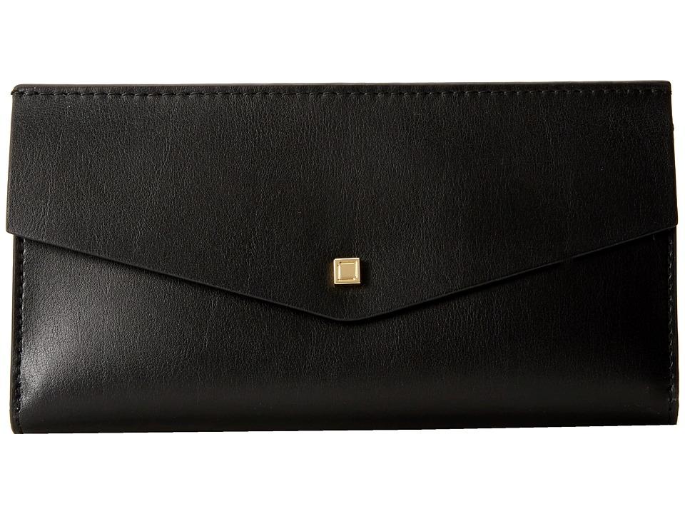 Lodis Accessories - Blair Unlined Amanda Continental Clutch (Black/Cobalt) Clutch Handbags