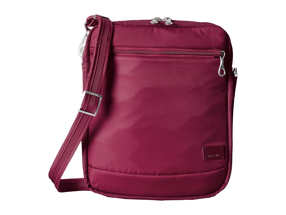 Pacsafe - Citysafe CS150 Anti-Theft Crossbody Shoulder Bag (Cranberry) Cross Body Handbags