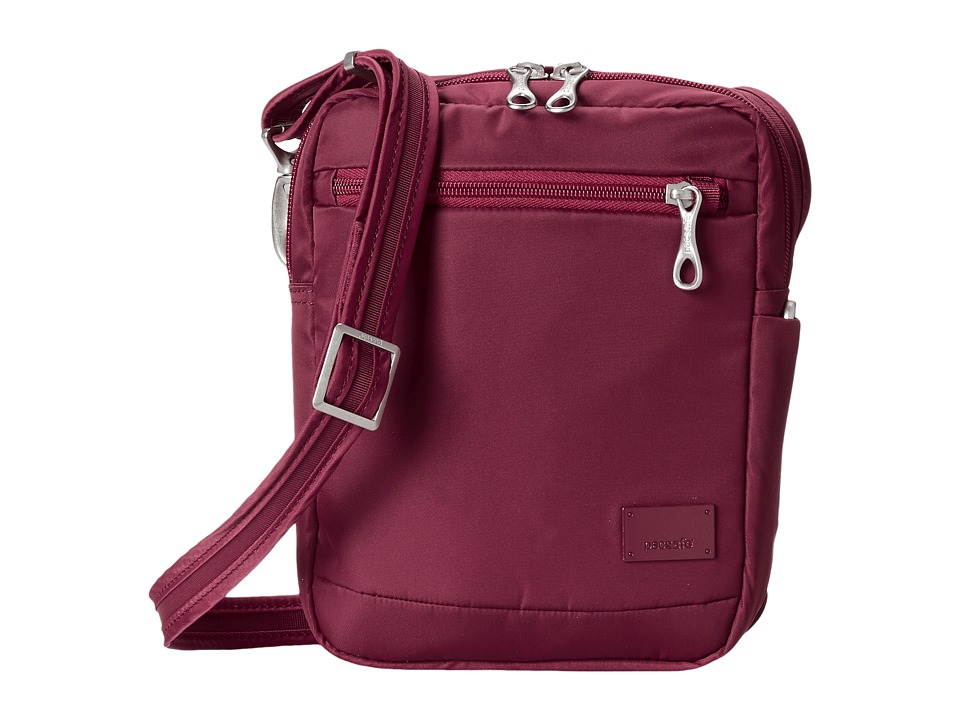 Pacsafe - Citysafe CS75 Anti-Theft Crossbody Travel Bag (Cranberry) Cross Body Handbags
