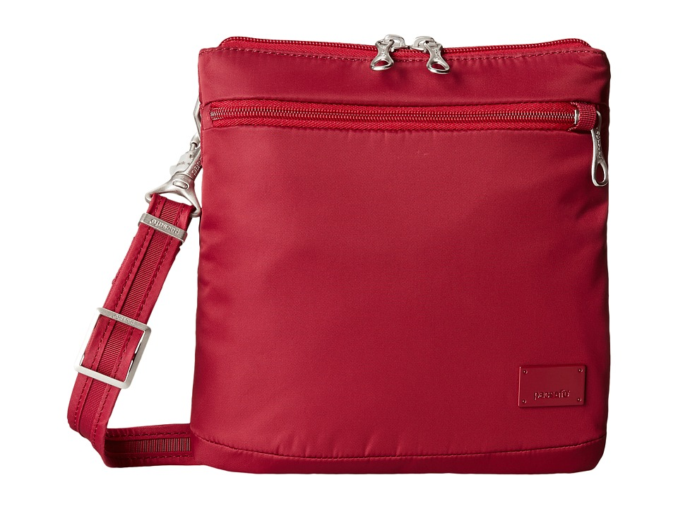 Pacsafe - Citysafe CS50 Anti-Theft Crossbody Purse (Cranberry) Cross Body Handbags