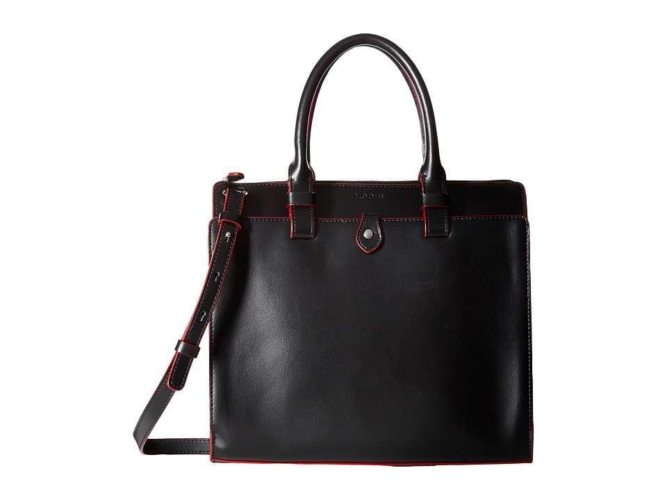 Lodis Accessories - Audrey Linda Medium Satchel (Black/Red) Satchel Handbags
