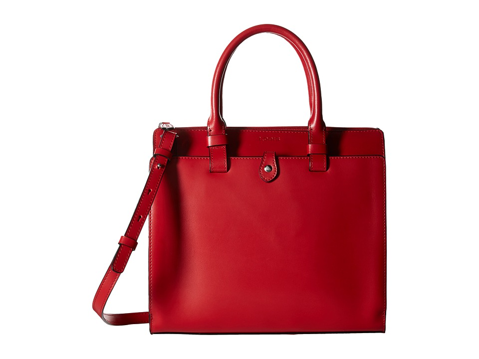 Lodis Accessories - Audrey Linda Medium Satchel (Red/Black) Satchel Handbags