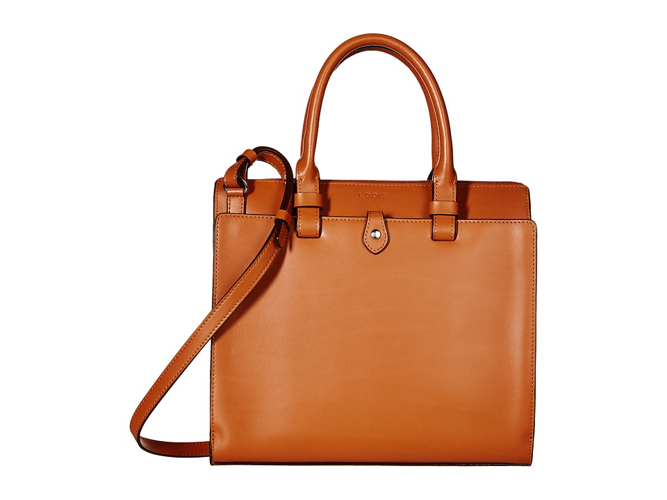 Lodis Accessories - Audrey Linda Medium Satchel (Toffee/Chocolate) Satchel Handbags