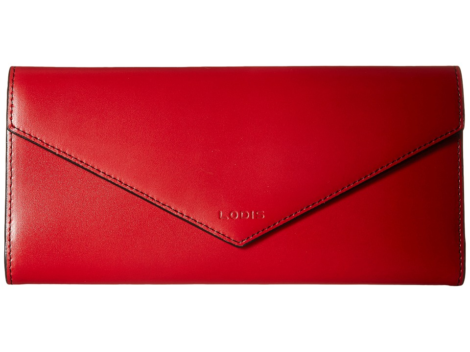 Lodis Accessories - Audrey Alix Trifold (Red/Black) Wallet Handbags