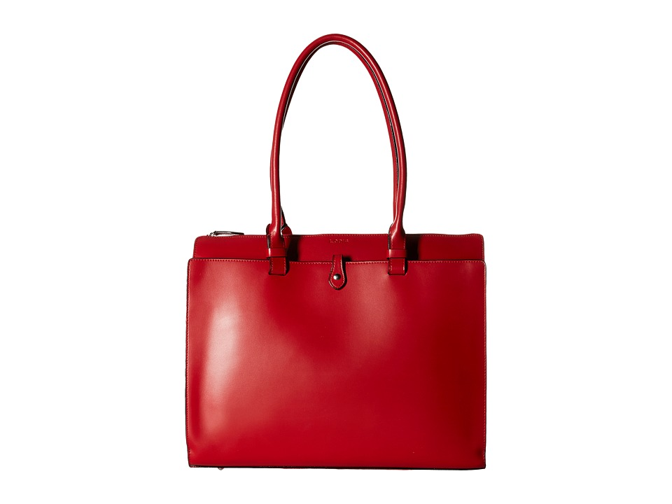 Lodis Accessories - Audrey Jessica Work Satchel (Red/Black) Satchel Handbags