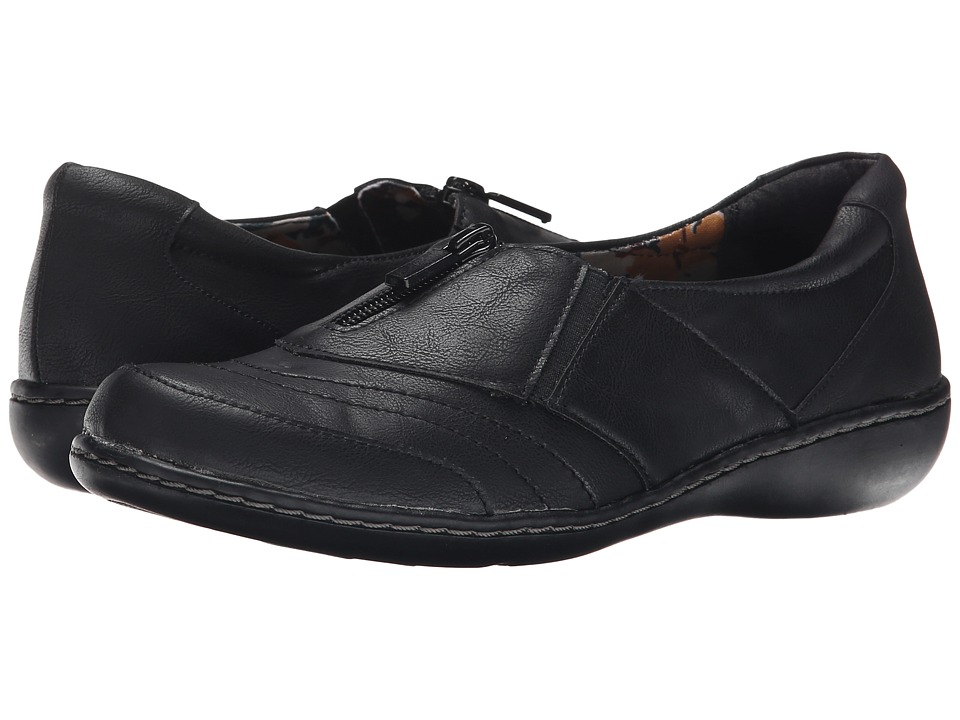 Soft Style - Jennica (Black Tumbled Leather) Women's Flat Shoes