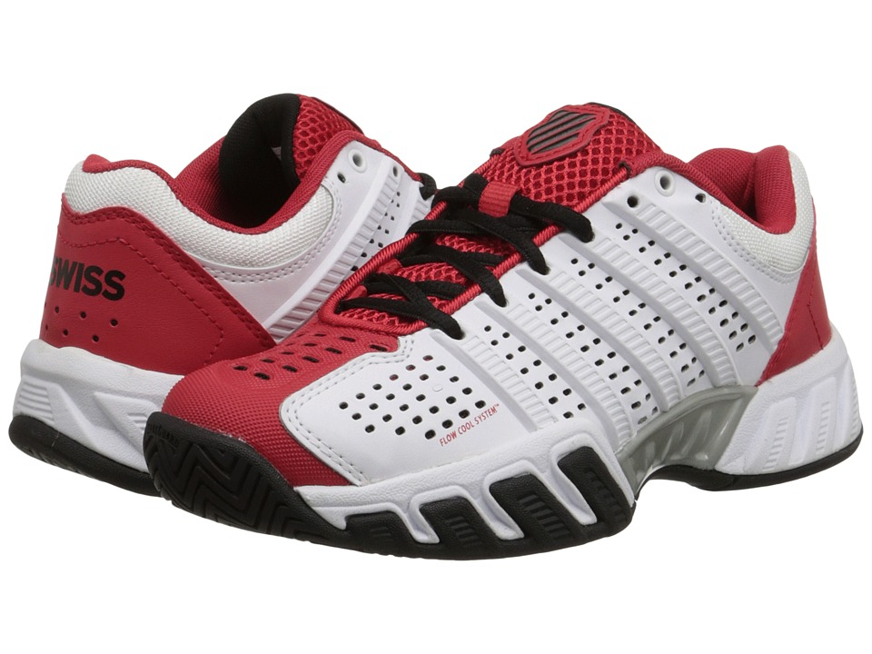 K Swiss Kids Bigshot Light 2.5 Tennis Little Kid/Big Kid White/Red/Black Boys Shoes