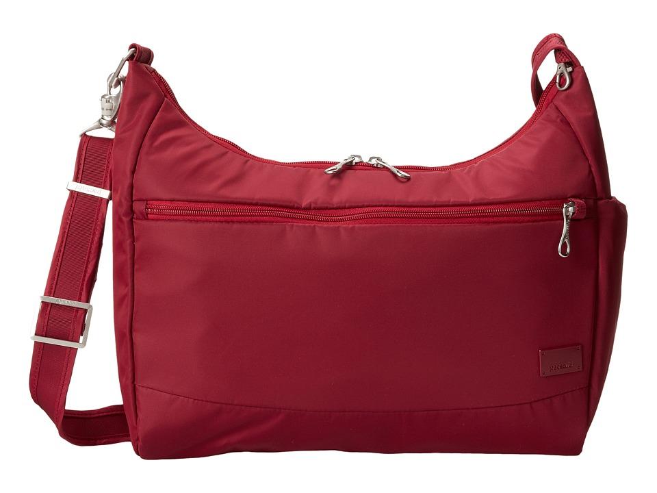 Pacsafe Citysafe CS200 Anti-Theft Handbag (Cranberry) Han...