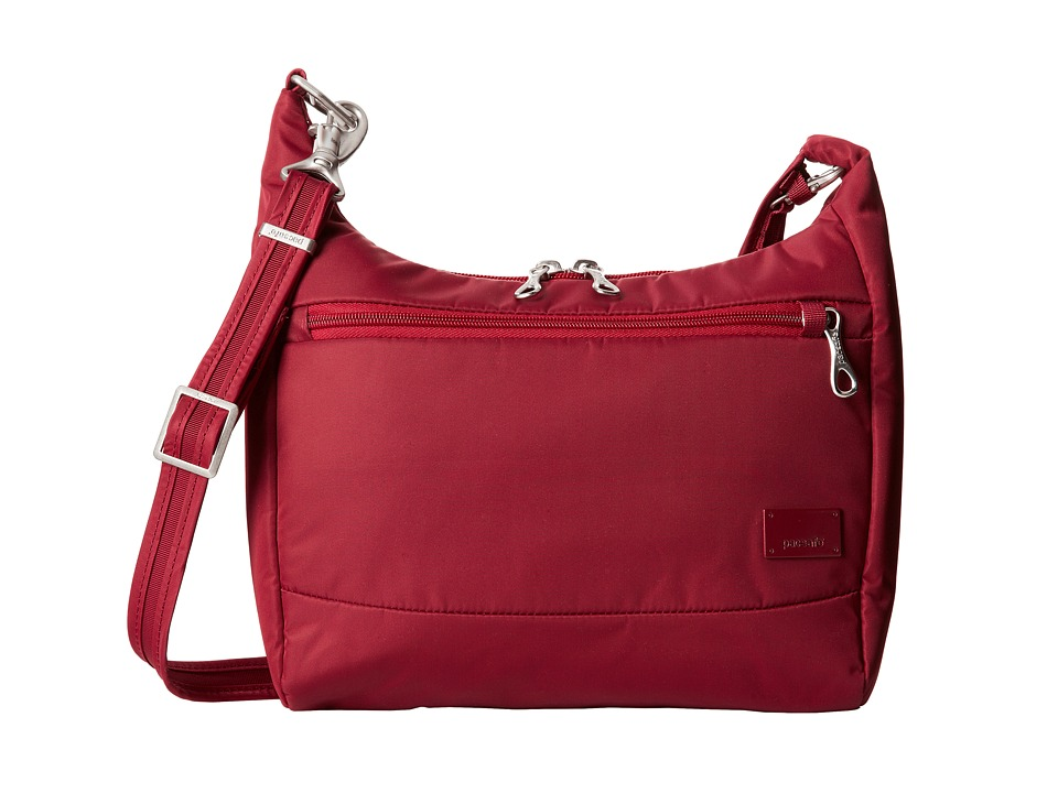 Pacsafe - Citysafe CS100 Anti-Theft Travel Handbag (Cranberry) Handbags