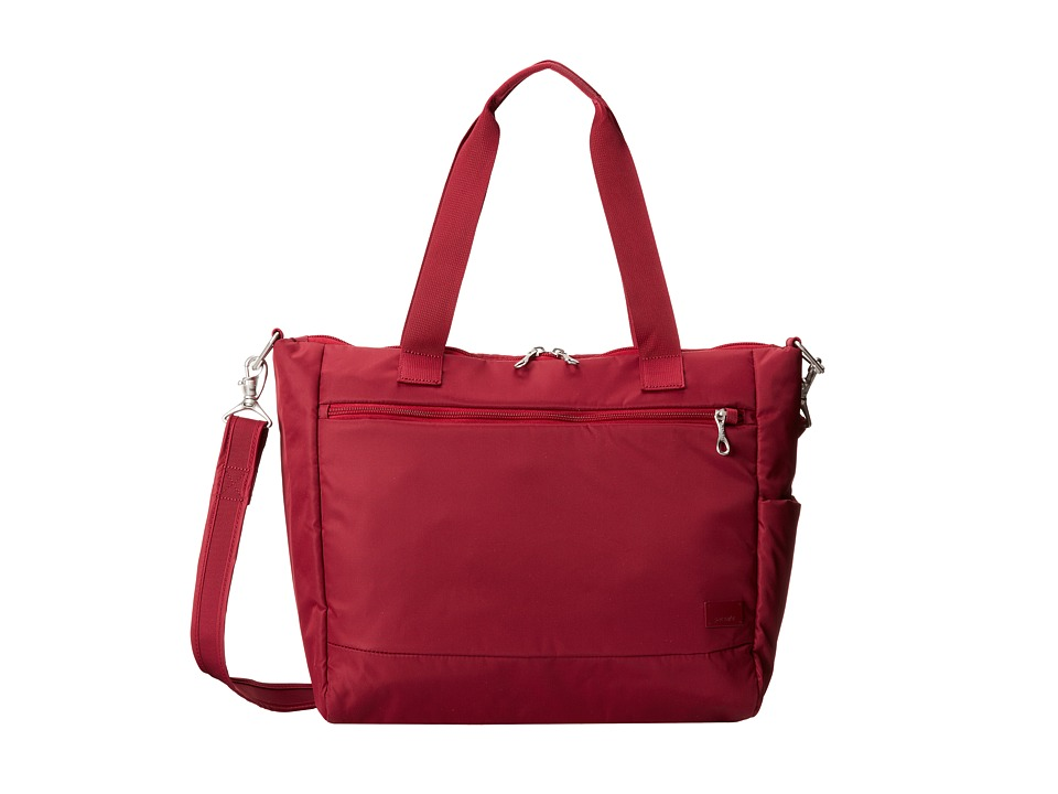 Pacsafe - Citysafe CS400 Anti-Theft Travel Tote (Cranberry) Tote Handbags