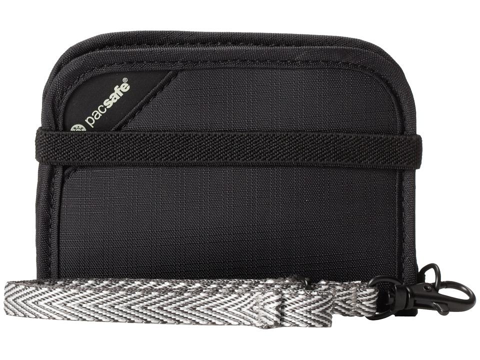 Pacsafe - RFIDsafe V50 Anti-Theft RFID Blocking Compact Wallet (Black) Wallet Handbags