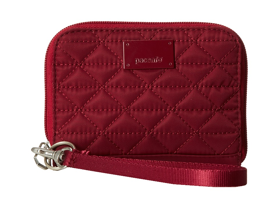 Pacsafe - RFIDsafe W100 RFID Blocking Wallet (Cranberry) Wallet Handbags