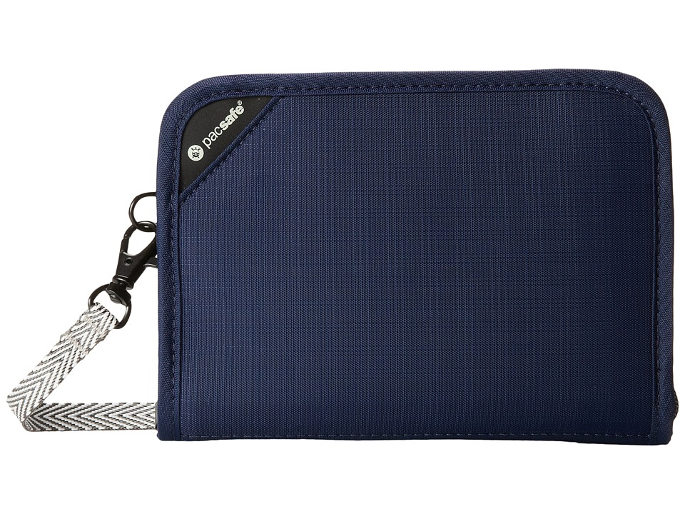 Pacsafe - RFIDsafe V150 Anti-Theft RFID Blocking Compact Organizer (Navy Blue) Wallet