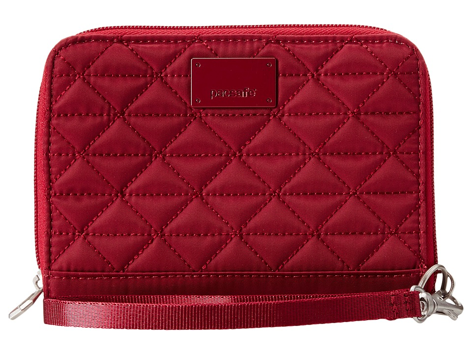 Pacsafe - RFIDsafe W150 RFID Blocking Organizer (Cranberry) Wallet