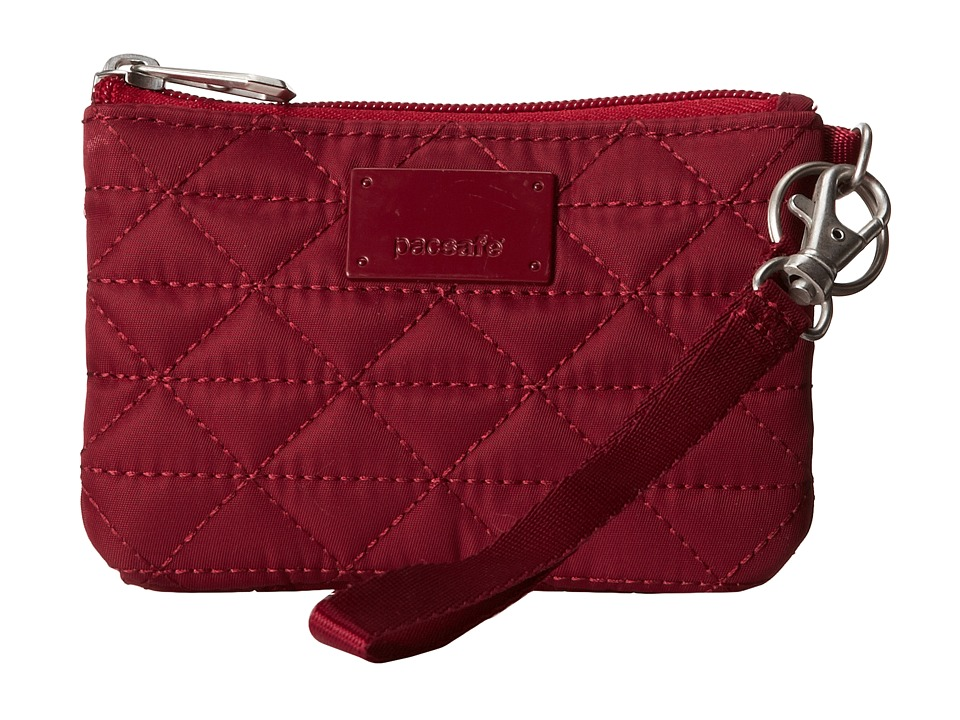Pacsafe - RFIDsafe W50 RFID Blocking Coin Card Purse (Cranberry) Credit card Wallet
