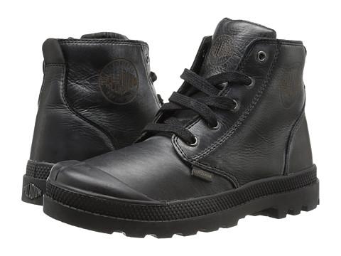 Palladium Kids Pampa Hi Leather Zip (Little Kid) - Black