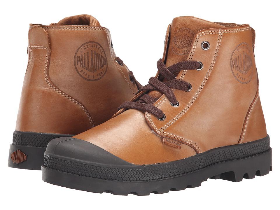 Palladium Kids Pampa Hi Leather Zip Little Kid Copper Kettle/Chocolate Boys Shoes