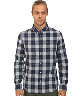 Original Penguin - Linen Two Color Plaid Long Sleeve Woven Shirt