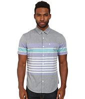 Original Penguin - Engineered Stripe Neps Woven Short Sleeve Shirt