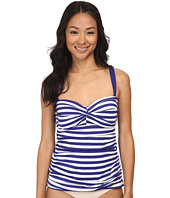 Jantzen - Harbour Beauty Stripe Twist Front Tankini