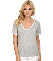 Three Dots - Reversible V-Neck Tee