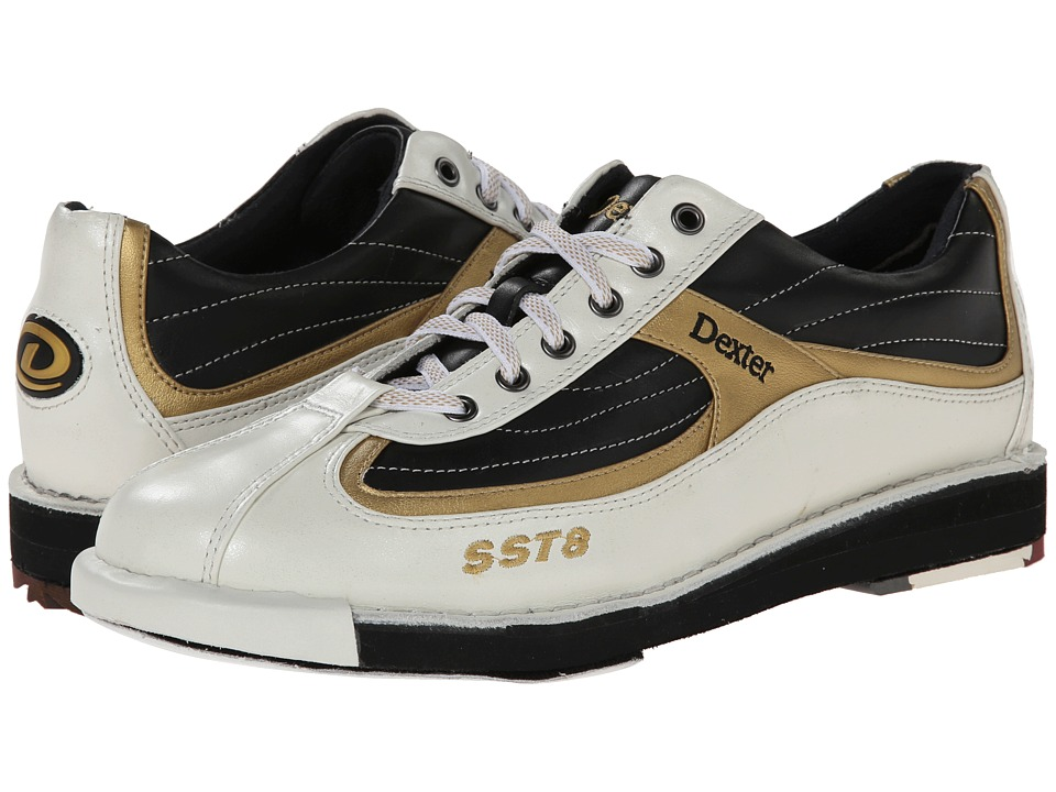 Dexter Bowling SST 8 White/Black/Gold Mens Bowling Shoes