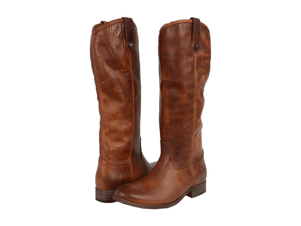 Frye Melissa Button Boots Extended (Cognac Extended Calf) Western Boots