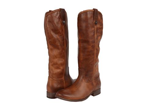 Frye Melissa Button Boot Extended - Cognac Extended Calf
