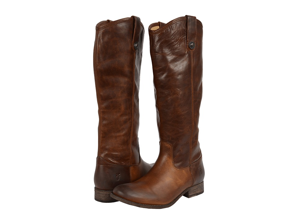 Frye Melissa Button Boot Extended (Dark Brown Extended Calf) Cowboy Boots