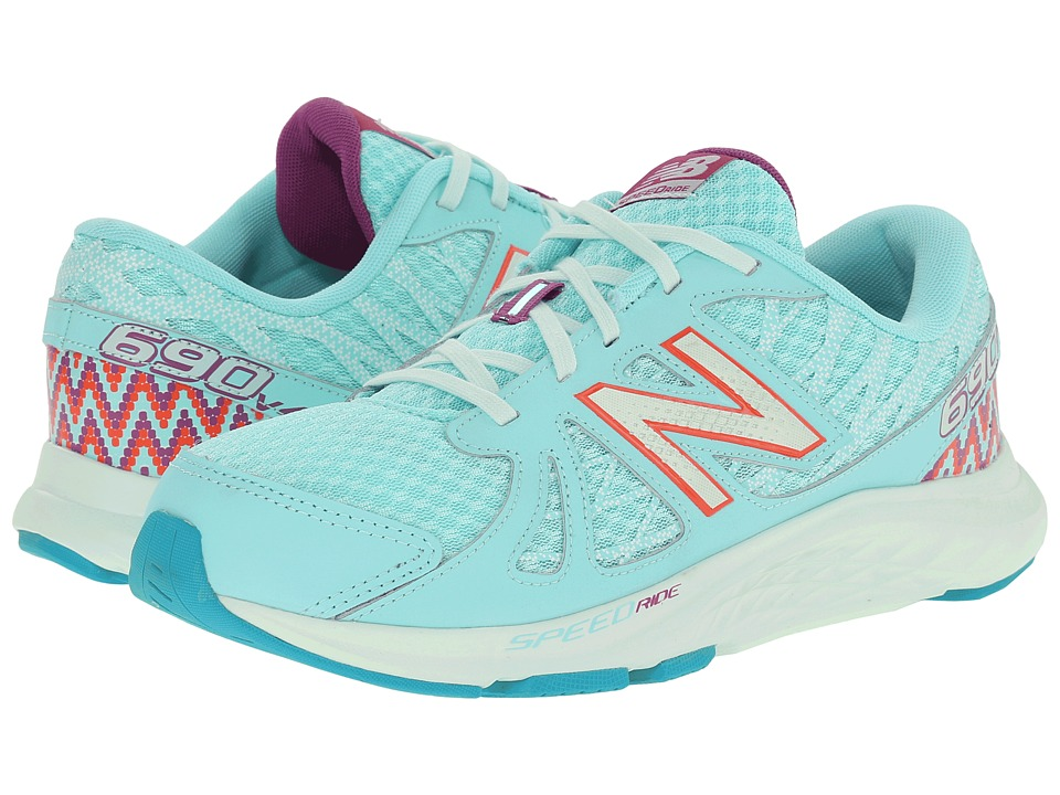 New Balance Kids 690v4 Little Kid/Big Kid Blue/Purple Girls Shoes