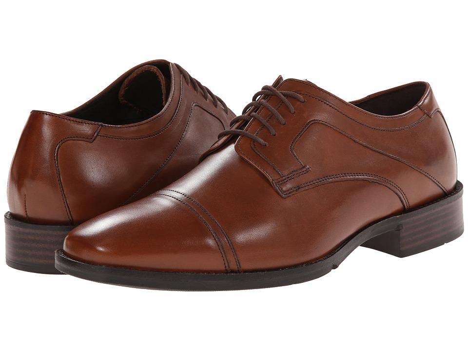 Johnston amp Murphy - Larsey Cap Toe Tan Mens Lace Up Cap Toe Shoes $135.00 AT vintagedancer.com