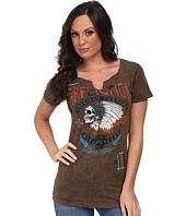 Affliction - Hunters Eye Short Sleeve Slit Neck Tee