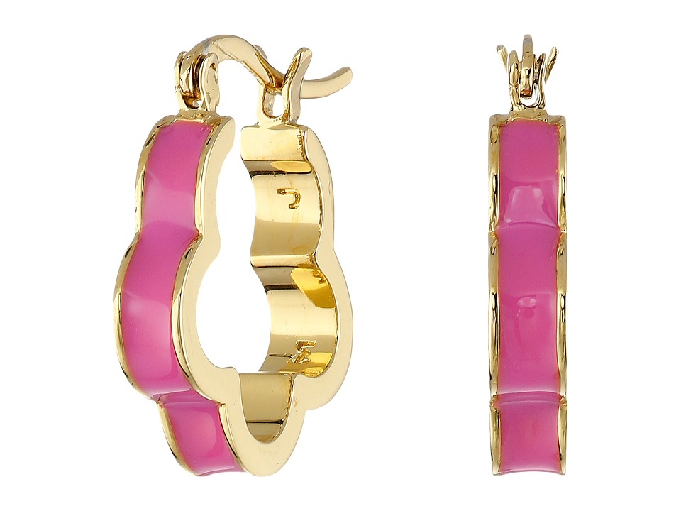 Marc by Marc Jacobs Diamonds and Daisies Colored Daisy Window Mini Hoop Earrings Knock Out Pink Earring