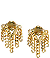 Marc by Marc Jacobs - Beat It Triangle Fringe Stud Earrings